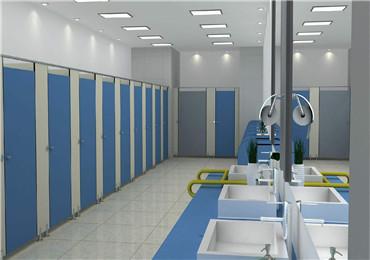 塑钢材料公共厕所隔断